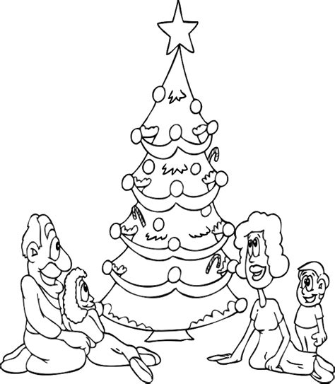realistic tree coloring page christmas family coloring pages realistic coloring pages