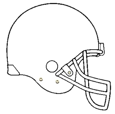 football outline template football helmet template cliparts co