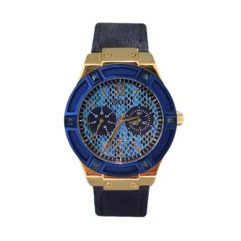 Jam Guess Blue Wanita jual guess w0289l3 jam tangan wanita navy blue