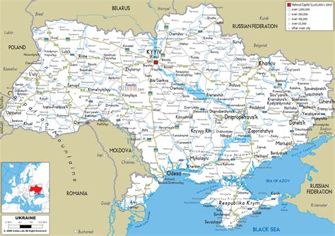 map ukraine cities large detailed road map of ukraine with all cities and