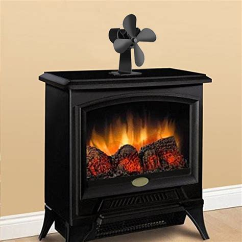 Wood Log Fireplace by Eco Friendly Heat Powered Stove Fan Freestanding For Log