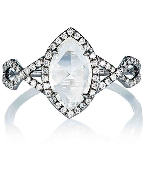 Marquise Ring by Marquise Cut Engagement Rings Martha Stewart