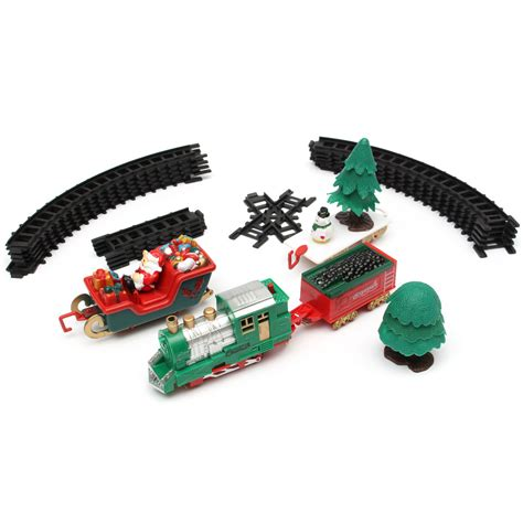 christmas musical light tracks train set 20 piece with