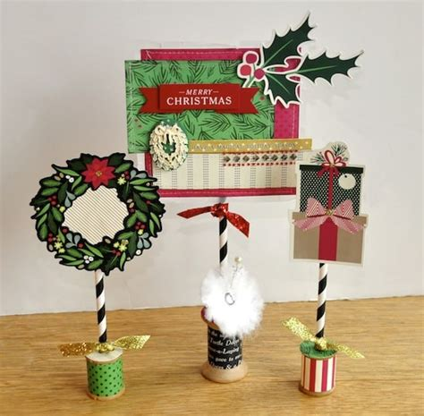 vintage wooden spool christmas table decorations mod