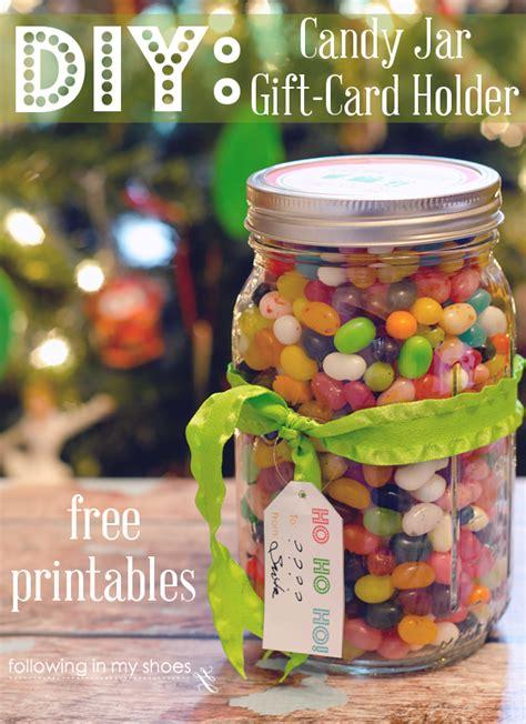 Gift Card Mason Jar - diy candy jar gift card holder and free gift printables