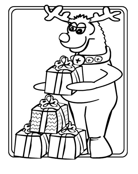 eight reindeer coloring page coloring page christmas reindeer coloring pages 8