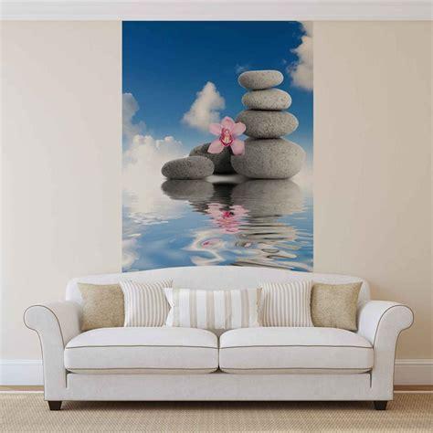 zen wall murals zen water stones orchid sky wall paper mural buy at europosters