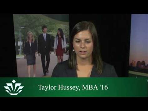 Mba Program After Undergrad by Hussey Mba Student On The Value Of Starting The
