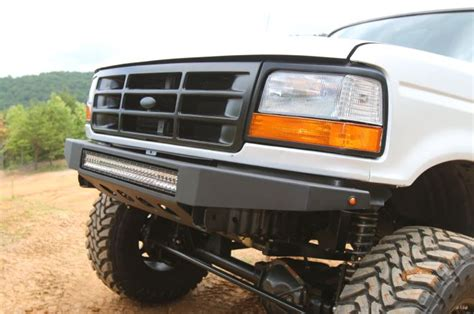 ford bronco light bar 1995 ford bronco custom front bumper rigid 30 inch