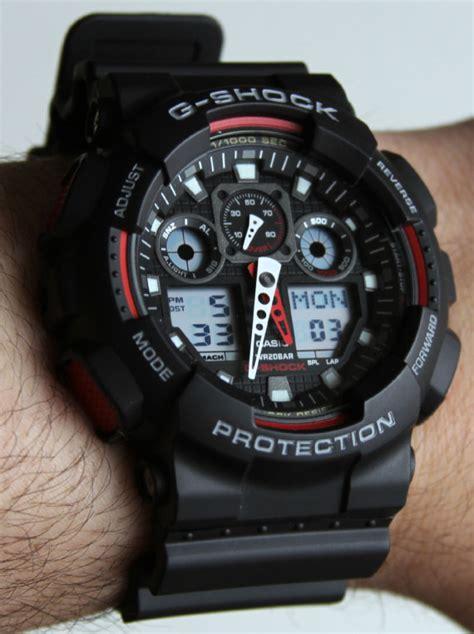 Casio G Shock Ga100 Dualtime casio g shock x large combi ga100 review ablogtowatch