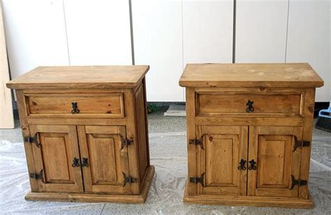 How To Refinish Nightstand by Refinish Mexican Pine Nightstands Before They Were