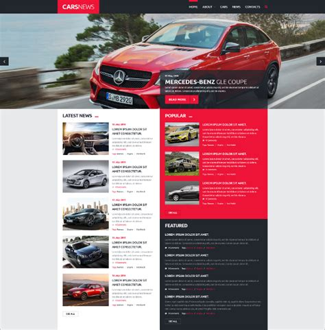free automotive card template 15 automotive joomla themes templates free premium