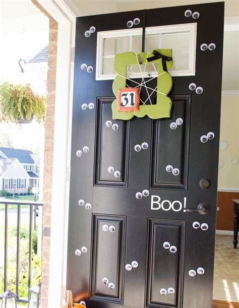 mustache and googly eyes door decor 17 best images about halloween on pinterest le chat noir