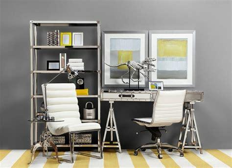 le bureau jaune d 233 co bureau gris et jaune