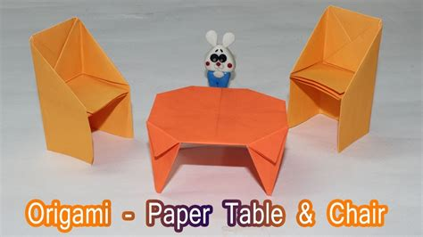 How To Make A Paper Chair - how to make a paper table dollhouse furniture paper