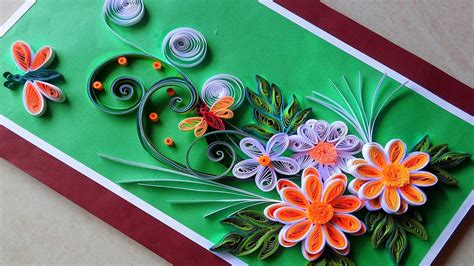 Paper Used For Greeting Cards - quilling cards how to make paper quilling greeting card