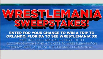 Sony Pictures Sweepstakes - sony pictures wrestlemania 2017 sweepstakes sun sweeps