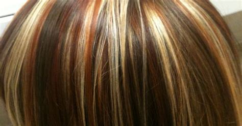 Tri Hair Color Hair Colors Ideas Newhairstylesformen2014 Tri Colored Highlights Copper And Highlights Stylist Wendy Brown My Style