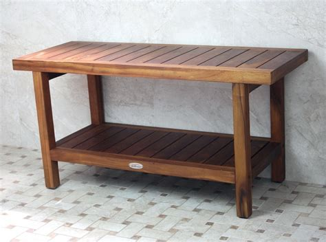 bath stools and benches adjustable height teak bath bench stool the clayton design