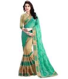 snapdeal sarees kesar sarees green georgette saree buy kesar sarees