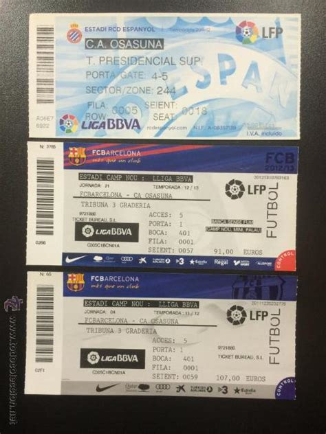 entradas osasuna 3 entradas enteras ca osasuna vs fc barcelona comprar