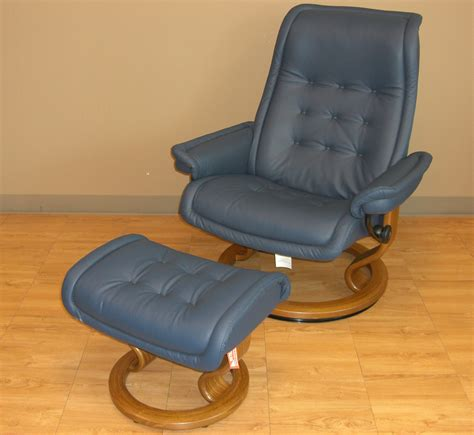 blue chair and ottoman ekornes stressless royal recliner chair lounger ekornes