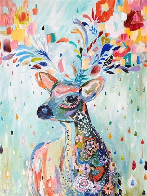 watercolor deer tutorial one scrappy doctor watercolour background card tutorial