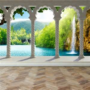 Waterfall Wall Murals wall mural waterfall in deep forest arch structure peel and stick