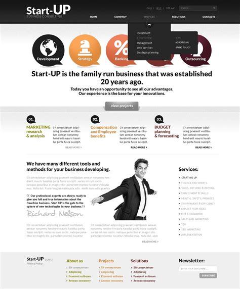 Start Up Business Website Template Web Design Templates Website Templates Download Start Up Startup Website Template