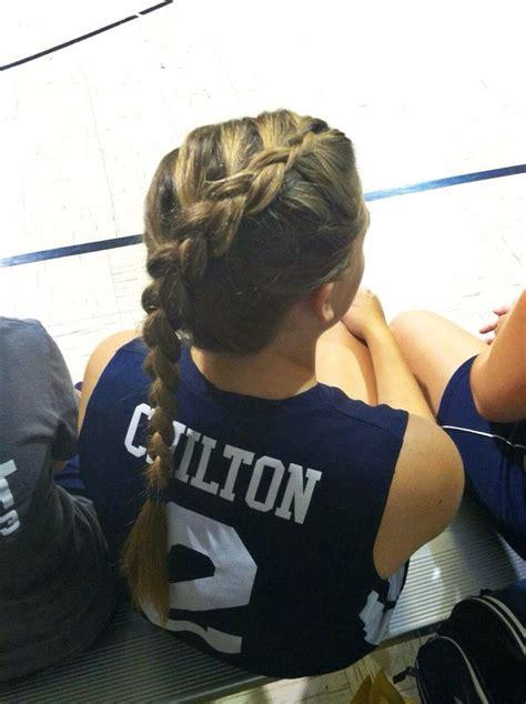 parting hair when braiding a ball volleyball hair volleyball braid braid braids hair