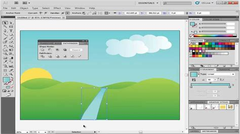 tutorial illustrator landscape how to create landscape in adobe illustrator youtube