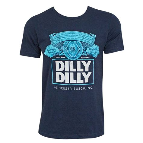 bud light dilly dilly bud light s navy blue dilly dilly box logo t shirt
