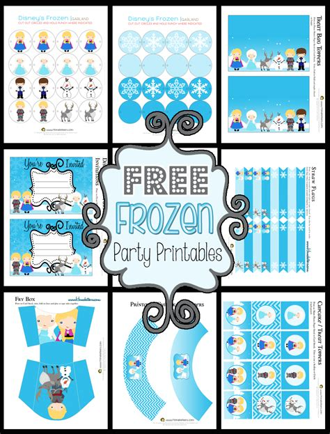 printable theme party decor disney s frozen party printables free