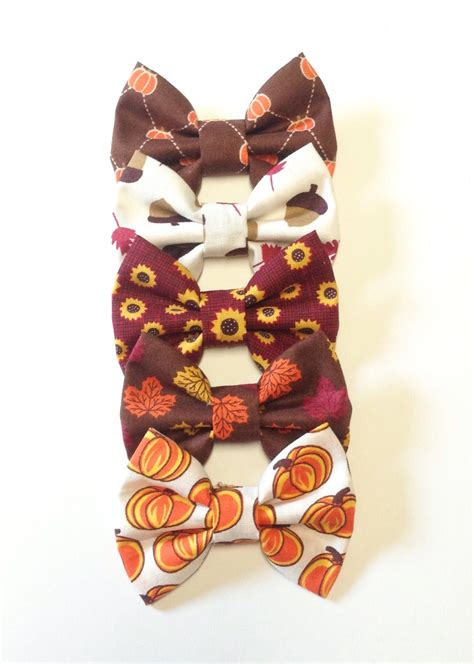 Nerb Handcraft - handmade fabric headbands small fall bow handmade fabric