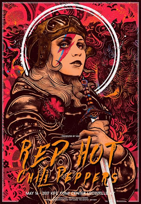 Delwyn Print Rhcp Chili Peppers Size S To L chili pepper concert poster by kaun