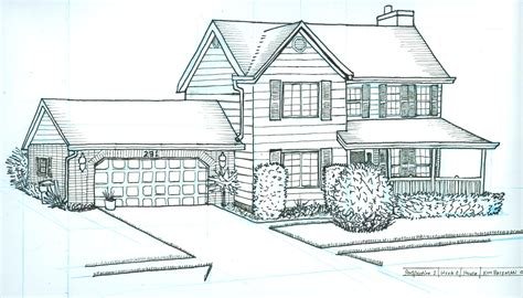 how to draw plans for a house perspective drawing house home building plans 25400