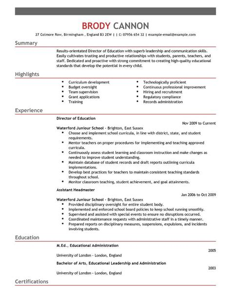 Educator Resume by 12 Amazing Education Resume Exles Livecareer