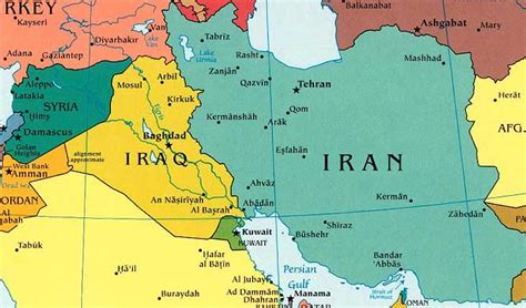 map of iran and syria iraq and iran realclearworld