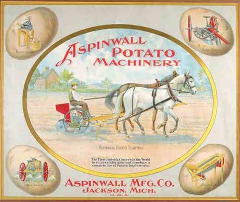 chromolithograph ad for aspinwall potato planters