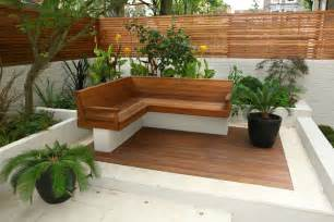Bamboo Bench Press Contemporary Chic Garden Slatted Hardwood Trellis By Ben