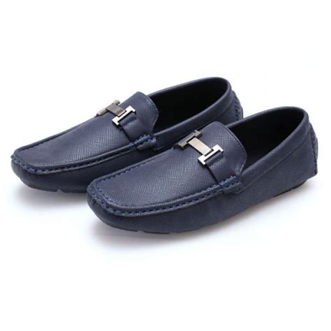 hermes loafer shoes s footwear hermes blue stitched stylish design