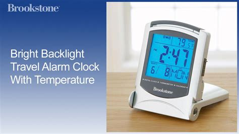 bright backlight travel alarm clock with temperature