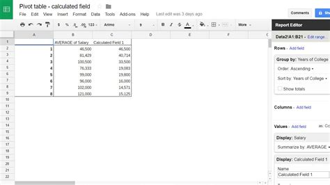 pivot table sheets how to consolidate