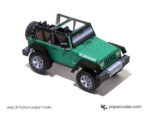 jeep open top jeep jk rubicon paper model http papercruiser com