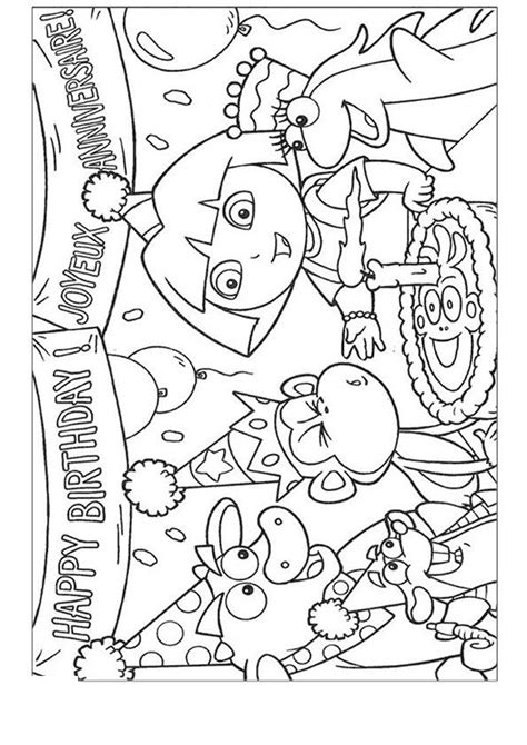 animations a 2 z coloring pages of dora the explorer