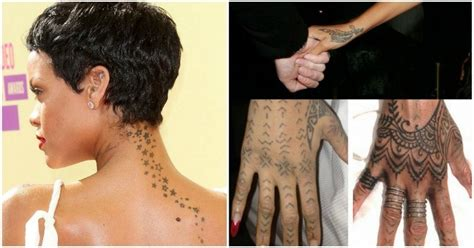 discover the secrets behind 18 of rihanna s tattoos