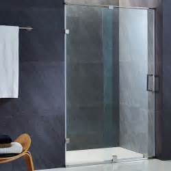 vigo ryland 48 inch frameless shower door with 3 8 quot clear