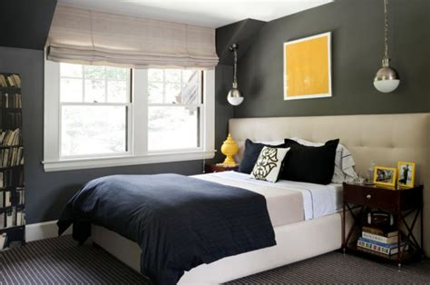 wonderful chic gray blue bedroom design photos 4 with charcoal gray walls paint color