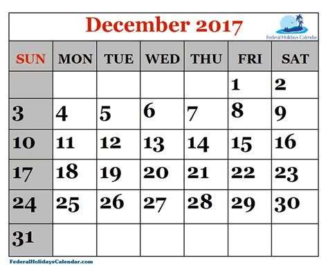 printable calendar december 2017 to december 2018 december 2017 calendar canada college printable calendar