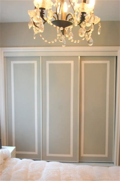 painted sliding closet doors faux trim effect the